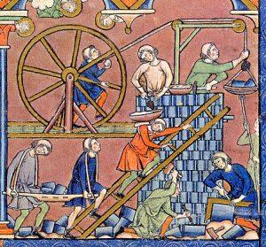 main-d'œuvre, La construction il y a 850 ans, Construction Richelieu, Construction Richelieu